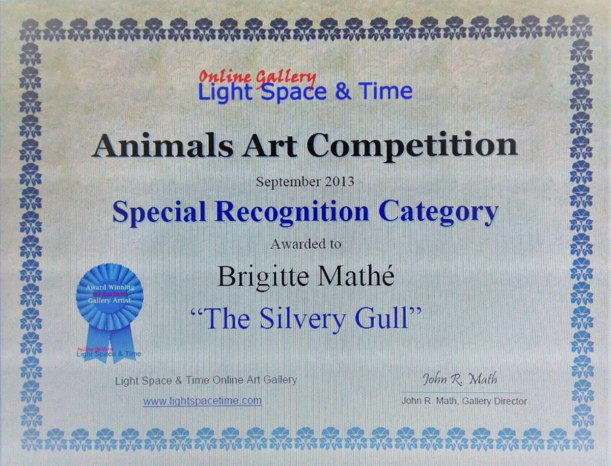 "PEINTURE - Special recognition category for ""Animals Art Competition"" septembre 2013"