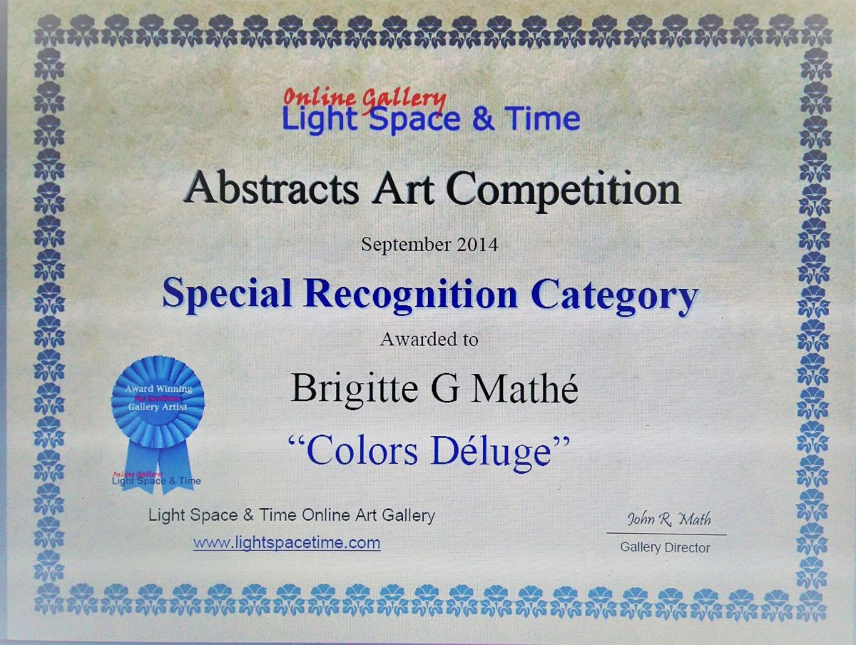 PEINTURE - Special recognition Category for Abstract Art Competition - septembre 2014