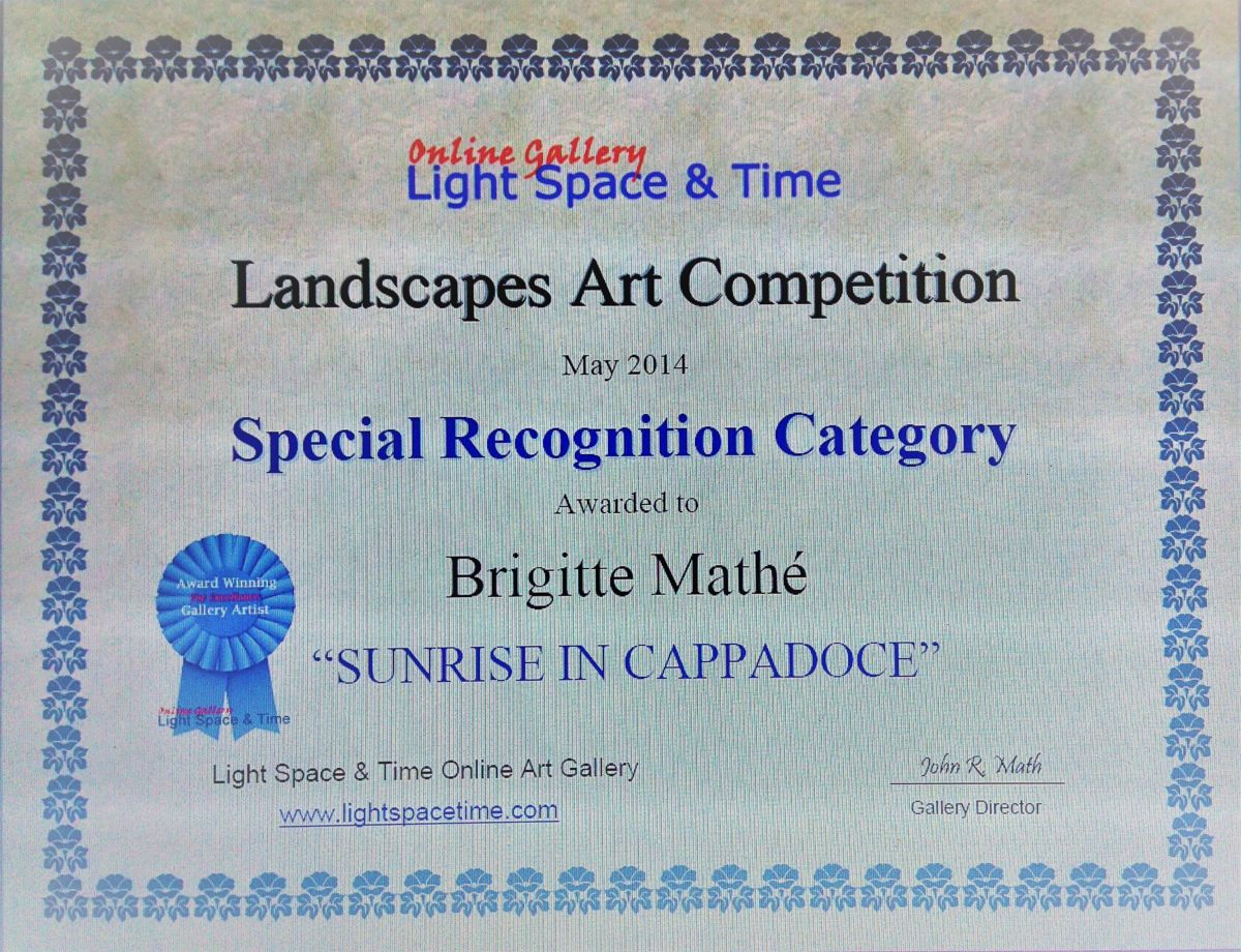 Special recognition Category, Landscapes Art Competition, Mai 2014