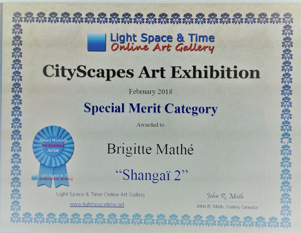 Special Merit category, Février 2018, Cityscapes Art Exhibition