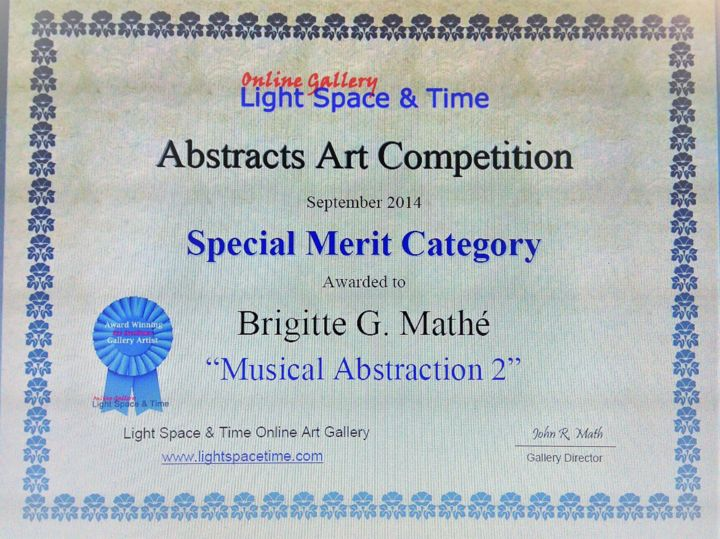 Brigitte Mathé - Abstract Art Competition Special Merit