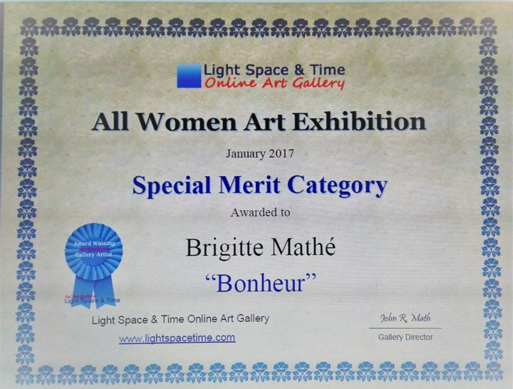 Brigitte Mathé - All women Art Competition Special Merit