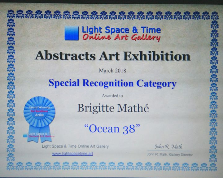 Brigitte Mathé - Abstracts Art Competition Special Recognition